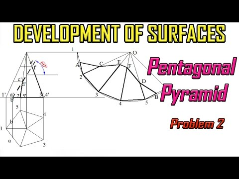 Development of Surface of Pyramid_Problem 2