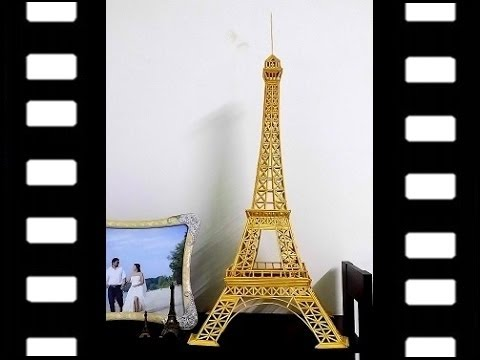 3D Eiffel Tower model with sticks. Step-by-step tutorial