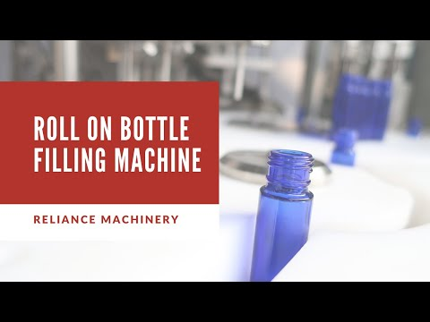 84)  10ml empty roll on perfume Bottle filling Capping machine- USA