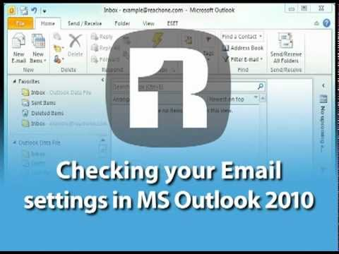 Check your email settings in Outlook 2010