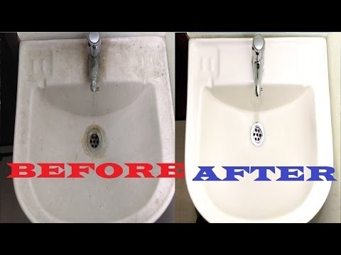 How to Clean Bathroom Sink || Ceramic & Porcelain Sink Cleaning || Clean Bathroom Basin Sink Fast