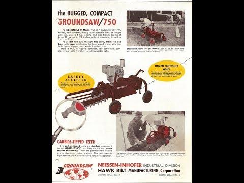 Ground Saw Trencher, Model 750