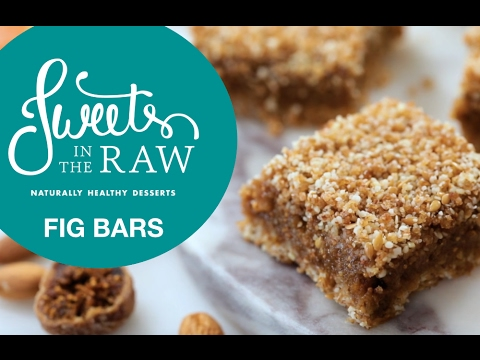 Raw Vegan Fig Bars: Sweets In The Raw Naturally Healthy Desserts