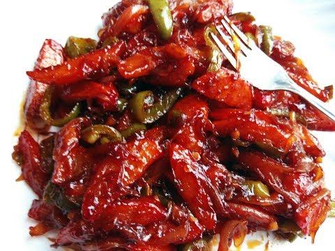 अंगुलियाँ चाटने को मजबूर कर देगा ये चिल्ली पोटेटो-Chilli potato Recipe-Chinese Dishes-Chilli Potato