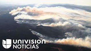 Así se ven desde el aire los incendios de California