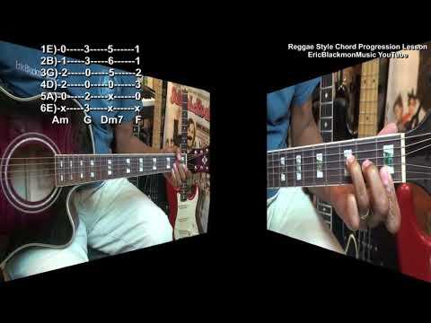 Eric's Easy Reggae Strumming Style Am Chord Progression Guitar Lesson EricBlackmonGuitar