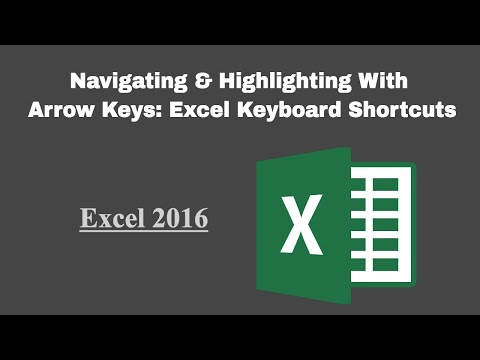 Navigating & Highlighting With Arrow Keys: Excel Keyboard Shortcuts