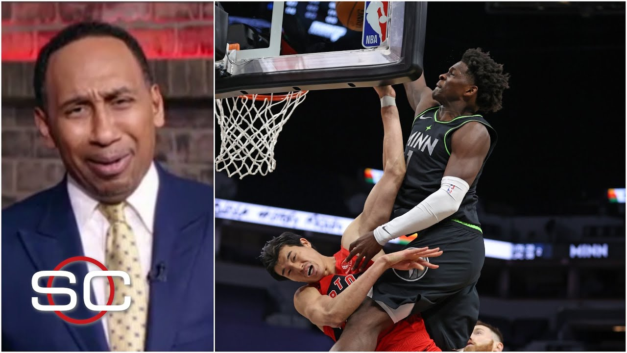 'Lord have mercy' - Stephen A. is fired up about Anthony Edwards' 'Jordan-esque' dunk   SportsCenter