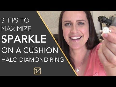 3 TIPS to MAXIMIZE SPARKLE on a HALO DIAMOND RING | Vanessa Nicole Jewels