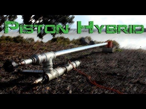 Mjöllnir - 50mm Hybrid Cannon: piston testing @ 10x mix