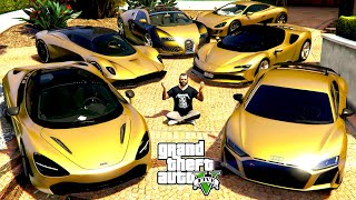 GTA 5 - Stealing GOLDEN Vehicles with Michael! (Real Life Cars #111)