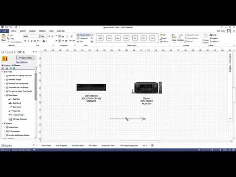 Creating a Line Drawing in Visio