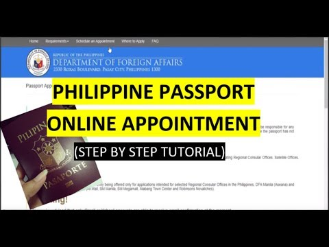 Philippine Passport Appointment Online (Step by Step Tutorial)