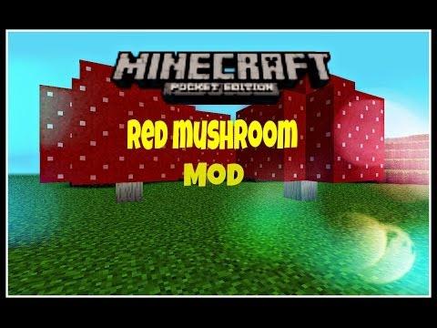 Minecraft-PE Red Mushroom Stick Mod!