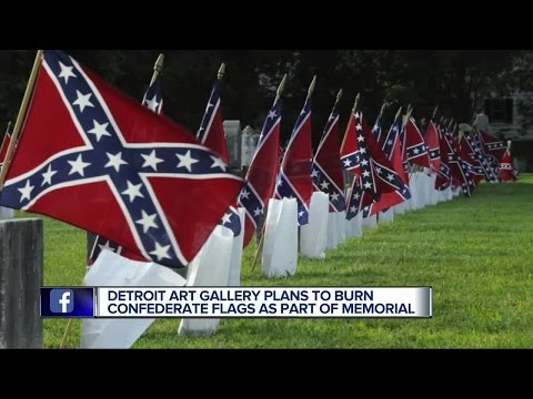 Detroit art gallery plans to burn Confederate flags as part of Memorial Day