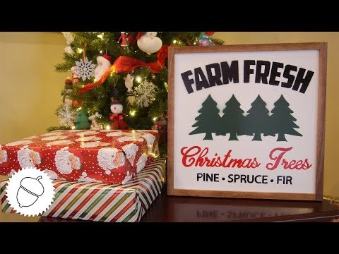 How to Make a Christmas Tree Sign | Great Christmas Decoration!