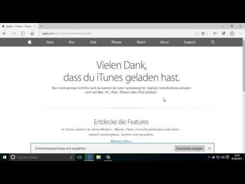 iTunes installieren auf Windows 10
