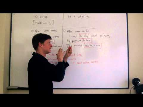 Elementary English. Lesson 15. Gerund or to + infinitive