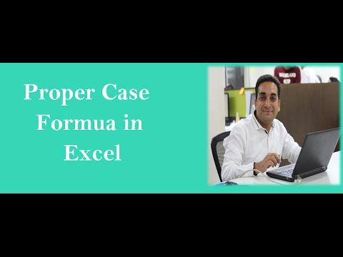 MS Excel Proper Case Formula