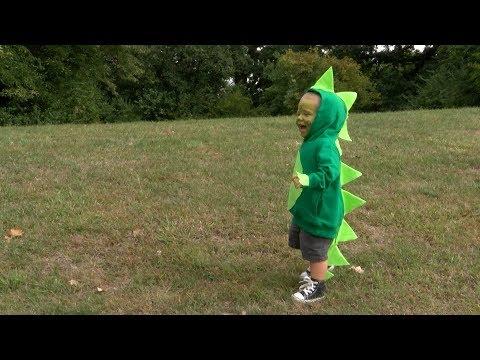 Safe & Easy Hooded Sweatshirt Halloween Costume: Dinosaur