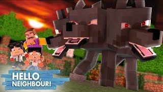 Minecraft: HELLO NEIGHBOR - O MONSTRO DE 3 CABEÇAS , CERBERUS