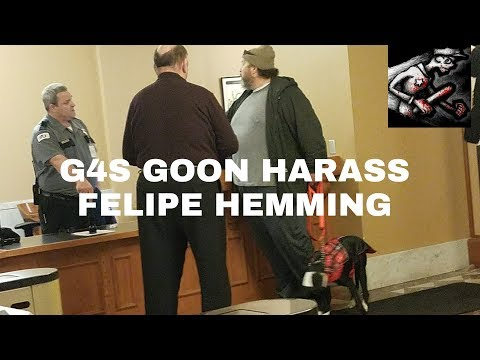 G4S Security Harassed Felipe Hemming at Portland City Hall about Service Dog
