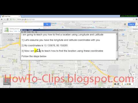 How to find a location using Latitude and Longitude