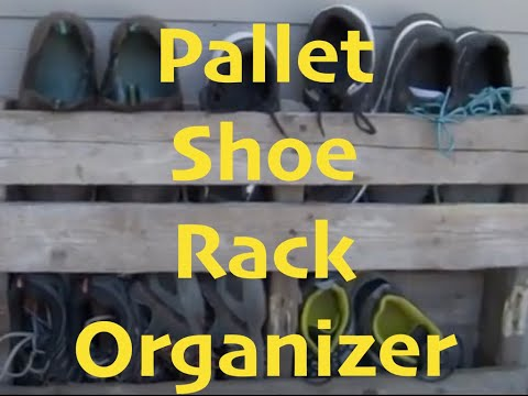 DIY Pallet Shoe Rack Organizer