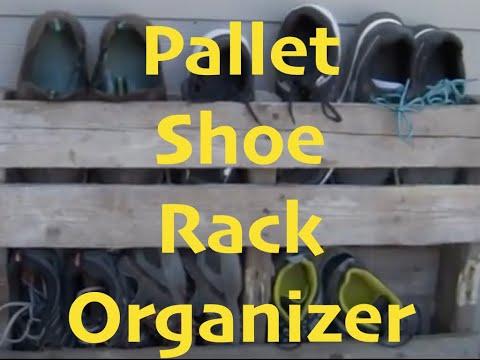 DIY Pallet Shoe Rack Organizer