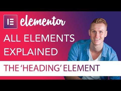 Heading Element Tutorial | Elementor