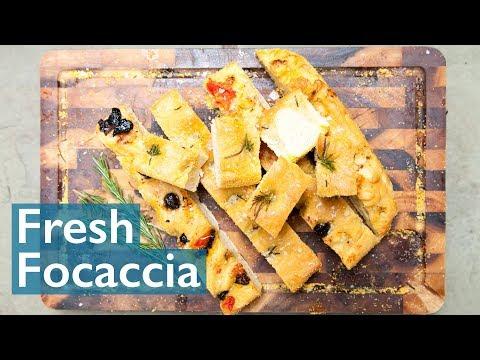 Fresh Focaccia for Bread Week!