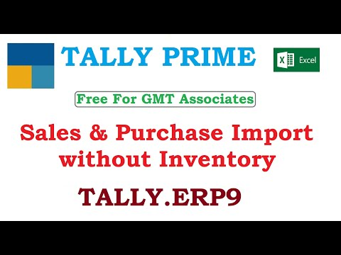 Sales & Purchase Import without Inventory