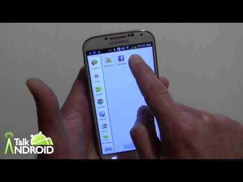 How to enable, hide, and move the Multi Window tray on the Galaxy S 4