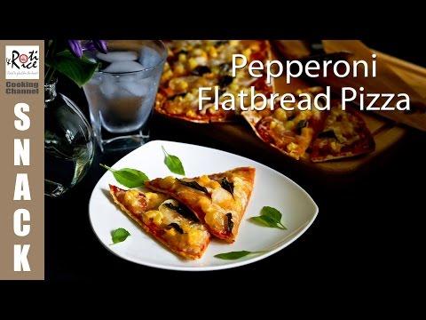 Pepperoni Flatbread Pizza | Roti n Rice