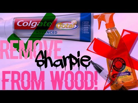 DIY !! How to remove SHARPIE From Wood! 1  ingredient