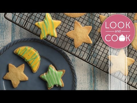 Star Shaped Cookies Recipe - Look and Cook step by step recipes | How to cook Star Shaped Cookies