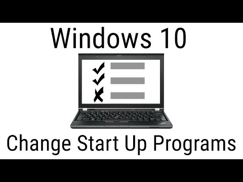 How to Change Startup Programs - Windows 10 Tutorial