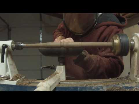 Making a wand with a wood lathe