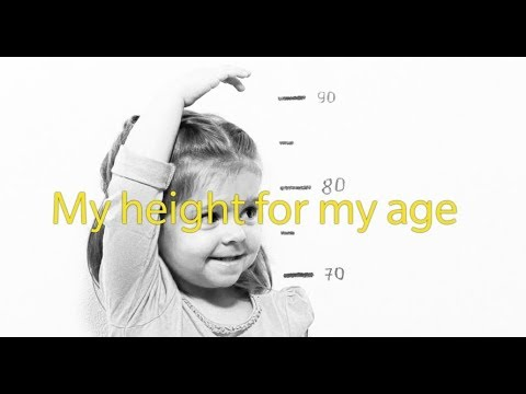 how to calculate height of  the child by age   height age
