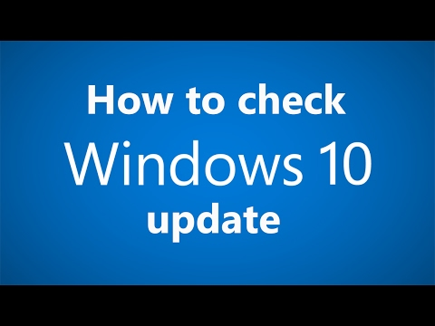 How to check the windows 10 update