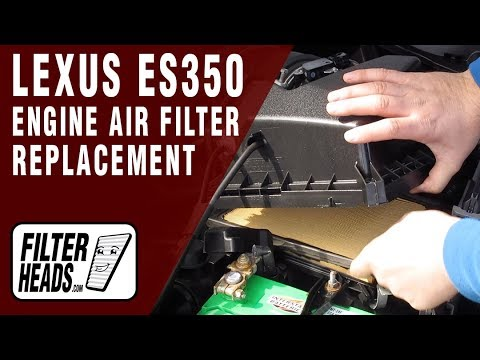 How to Replace Engine Air Filter 2013 Lexus ES350 V6 3.5L