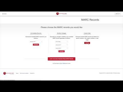 Managing Your MARC Records in the Admin Portal