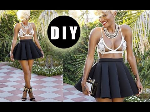 DIY Neoprene Skater Skirt