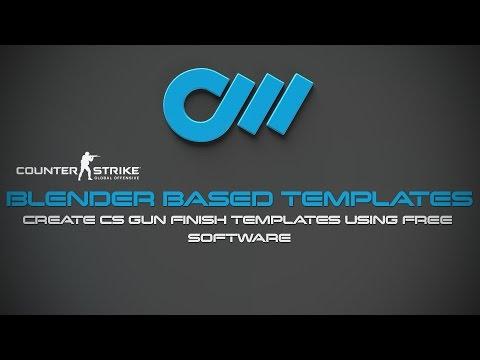 Design CS:GO Skins Using Templates in Blender3d (Free software)