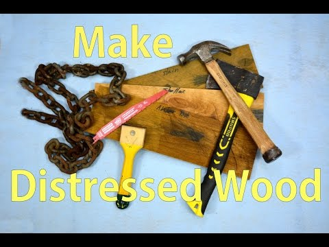 Distressing Wood for an Antique Effect / Make Wood Look Old