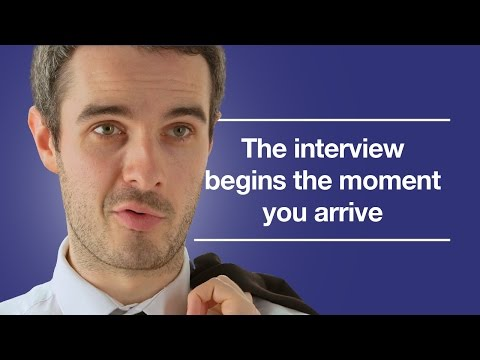 The worst possible start to an interview