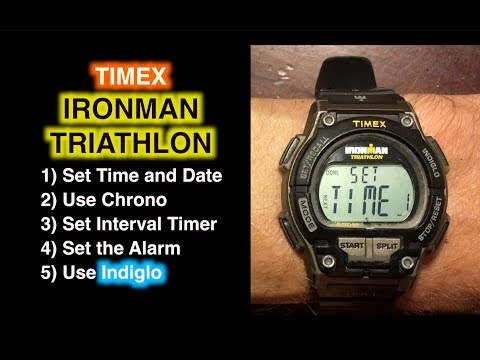 How to Set Timex Ironman Triathlon - Set Time, Date, Chrono, Timer, and Alarm