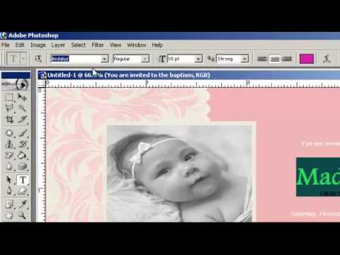 How to Make a Christening Invitations Card Using Adobe Photoshop