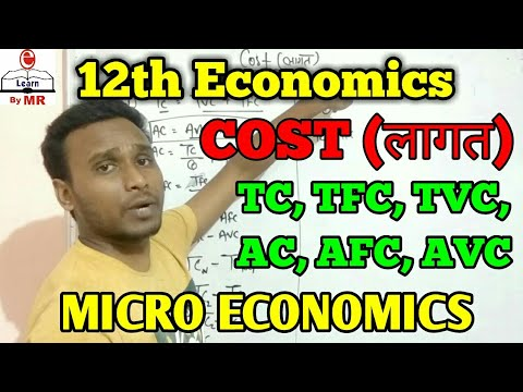 Calculation of TC, TFC, TVC, AC, AFC, AVC | Cost (लागत) | E Learn by MR
