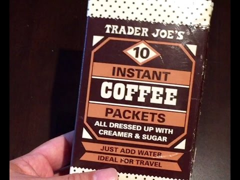 Trader Joe's instant coffee packets with creamer and sugar